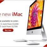 Новые Apple iMac 21.5 и 27 дюймов — старт продаж.
