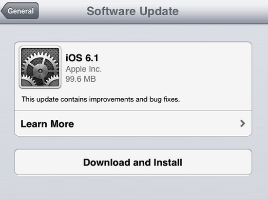 Apple Releases iOS 6.1