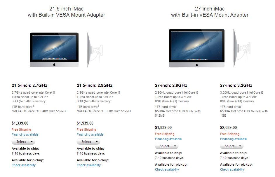 Vesa Adapter for iMac