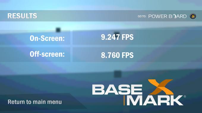 Basemark X 1.0 бенчмарка для  Android
