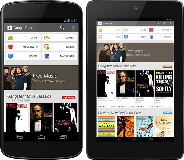 New google play