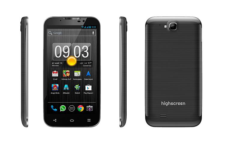 Новый бюджетный смартфон от Highscreen - Alpha GTX