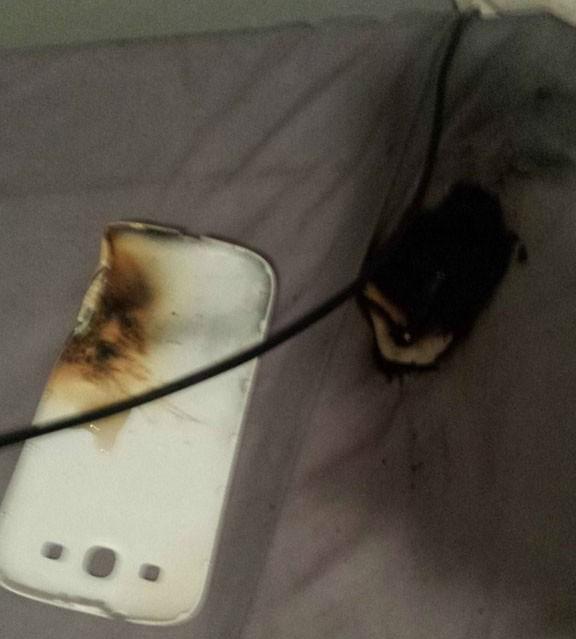 Samsung Galaxy S3 взрыв аккумулятора