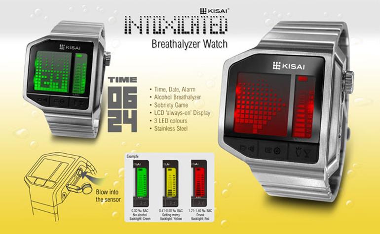 Tokyoflash Kisai Intoxicated - часы и алкотестер в одном устройстве