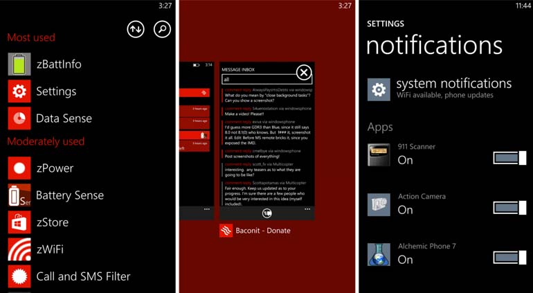 Screenshot Windows Phone 8
