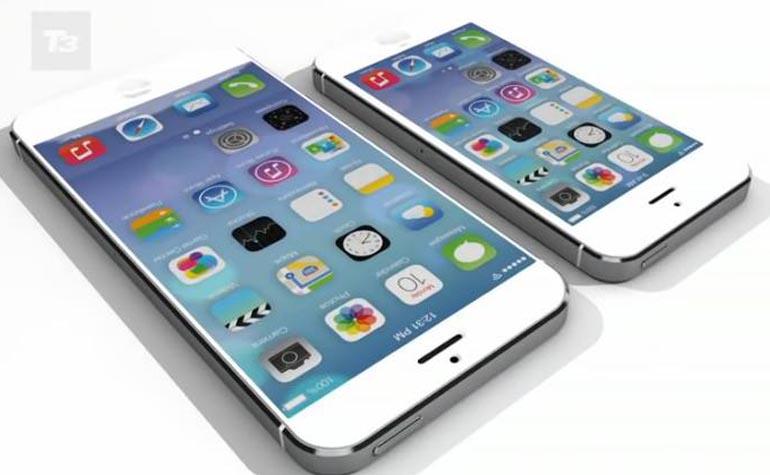 iPad and iPhone with big display