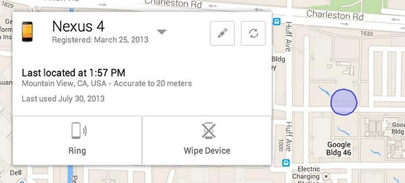 Android Device Manager поможет найти потерянный телефон