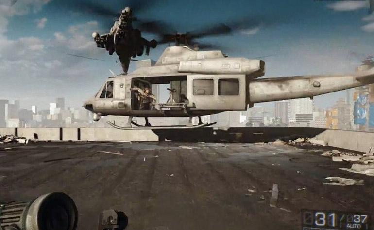 Видео мультиплеерного геймплея на 40 минут - Battlefield 4