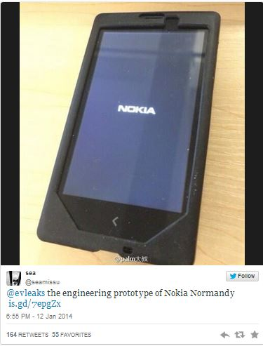 Утечка еще одного изображения Nokia Normandy