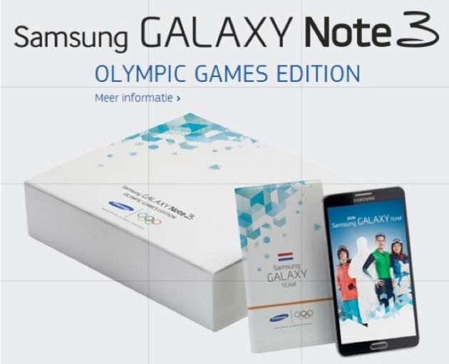 Олимпийским спортсменам раздадут Galaxy Note 3 «Olympic Games Edition»
