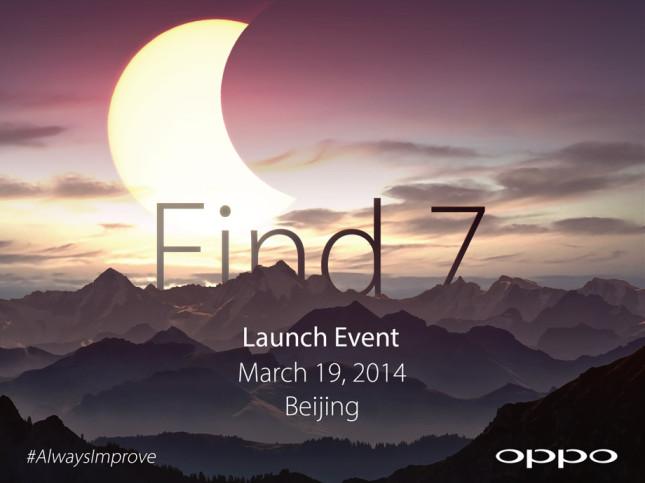 Oppo Find 7 появится 19 марта в Пекине