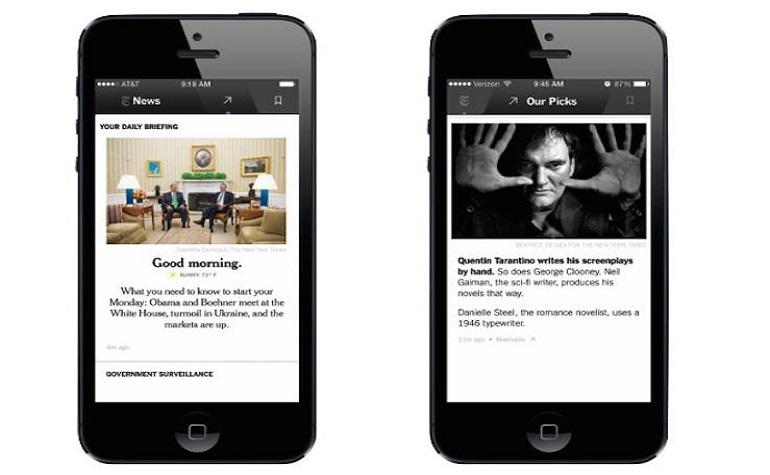 The New York Times запускает приложение для iPhone