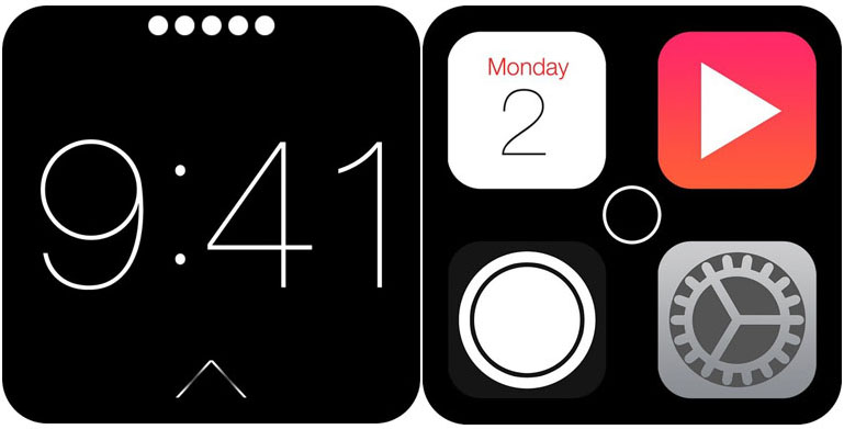 Apple iWatch interface screenshot
