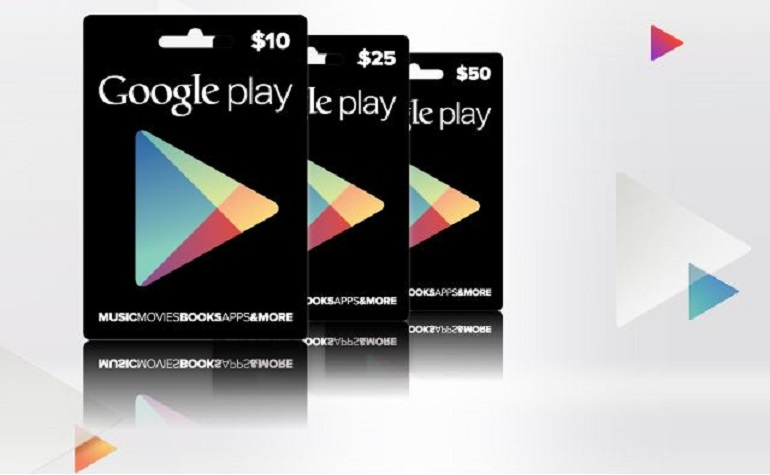 Google запустил продажу подарочных сертификатов для Play Store