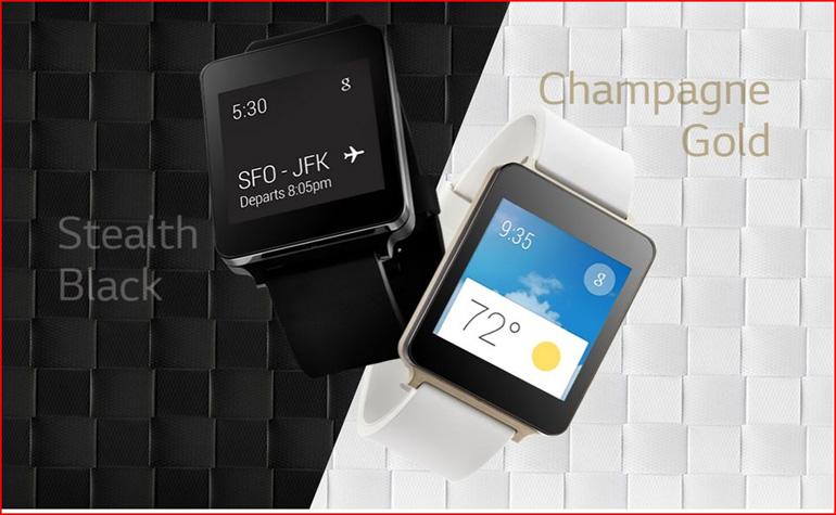 LG G Watch, водостойкие