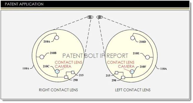 Google патентует смарт-линзу