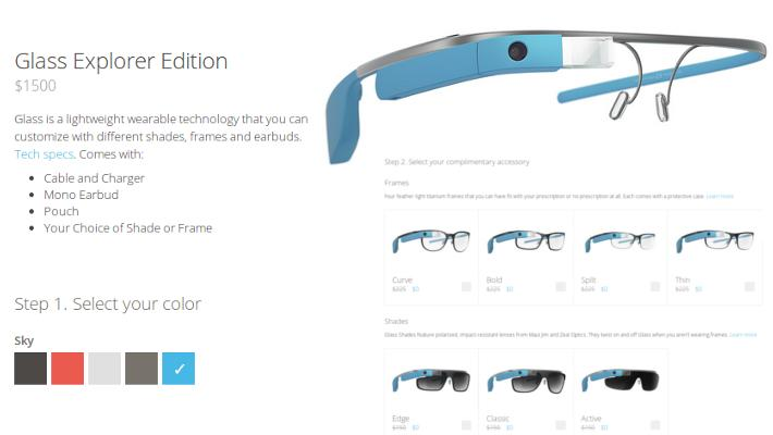 Google Glass, Glass Explorer Edition, очки