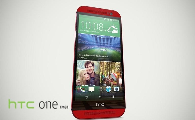 HTC One M8 выходит в красном цвете
