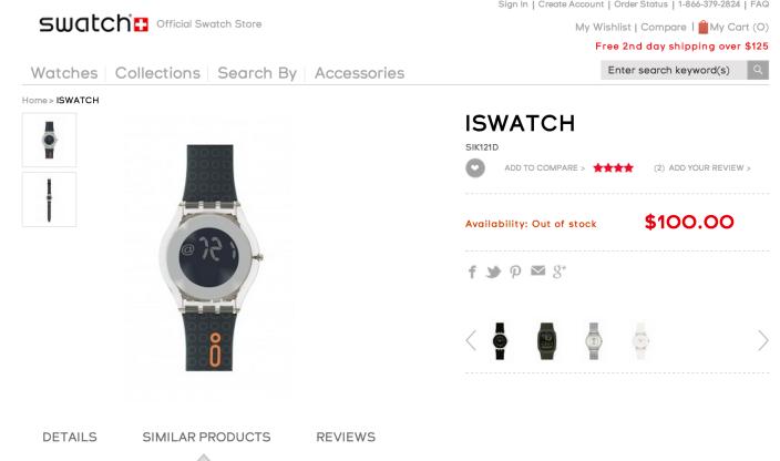 Swatch беспокоится об iWatch
