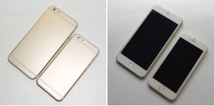 Сравнительные фото новых iPhone 6