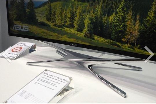 ASUS представила изогнутый монитор в 32 дюйма