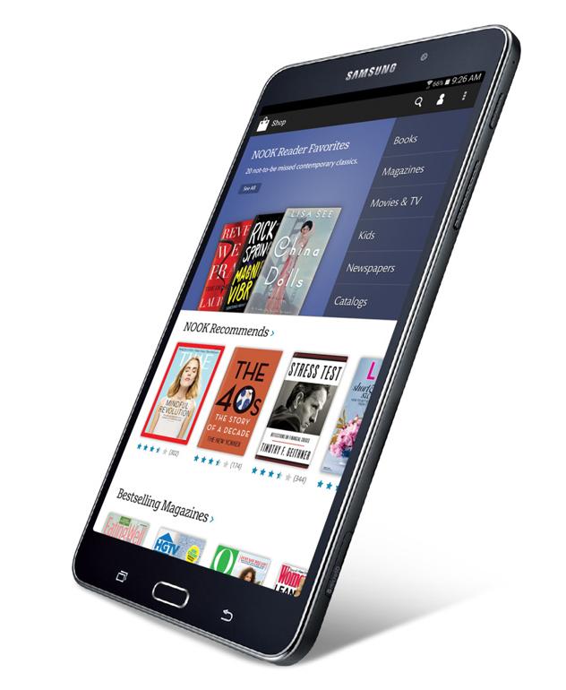 Samsung анонсировала читалку Samsung Galaxy Tab 4 Nook