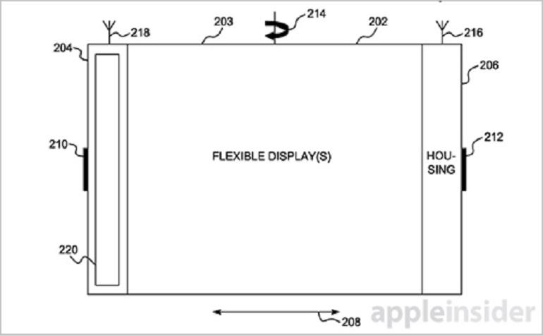 Apple запатентовала гибкий смартфон
