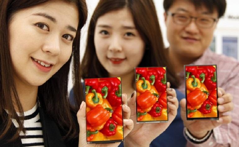 LG представила супертонкий дисплей для смартфонов