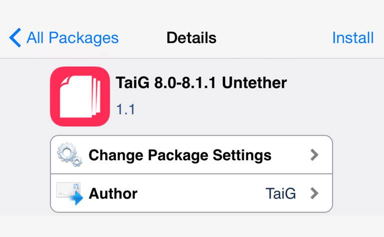 утилита TaiGJBreak для непривязанного джейлбрейка iOS 8