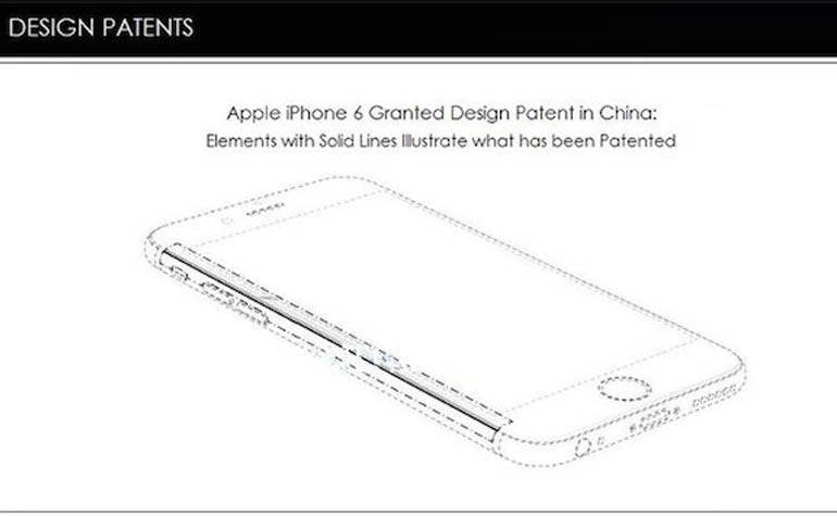 Apple запатентовала дизайн iPhone 6