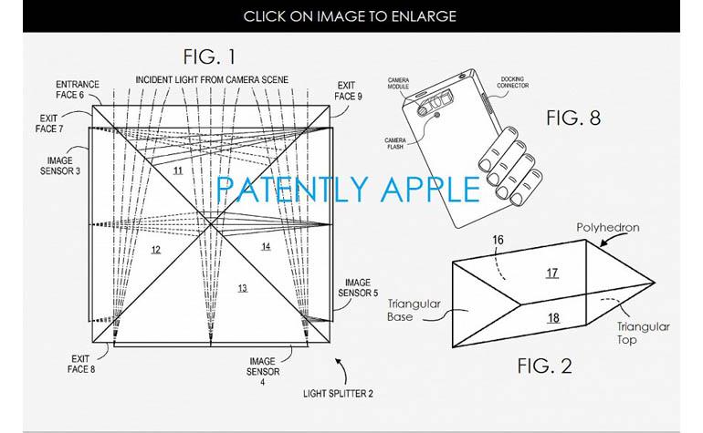 Патент Apple на трехсенсорную камеру
