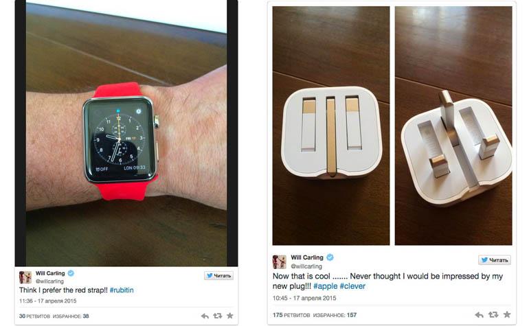 Ремешок красного цвета для Apple Watch и необычная зарядка