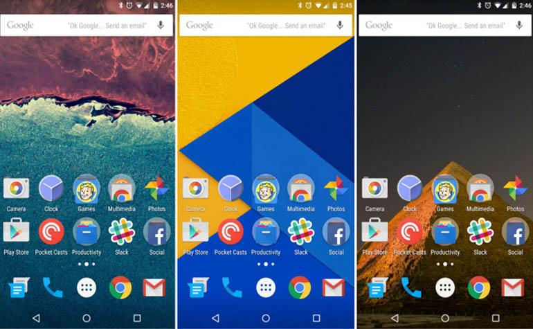 Новые обои для рабочего стола Android 6.0