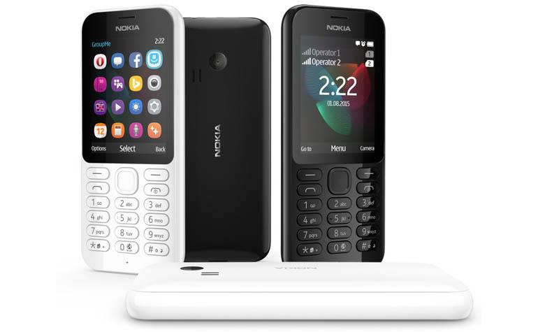 новые кнопочные звонилки Nokia 222 и 222 Dual SIM