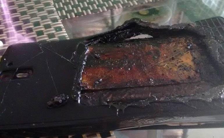 Смартфон OnePlus One загорелся