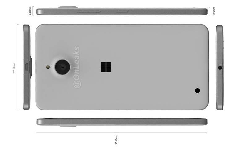 рендер Microsoft Lumia 850