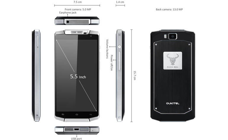 долгоиграющий смартфон - Oukitel 10000