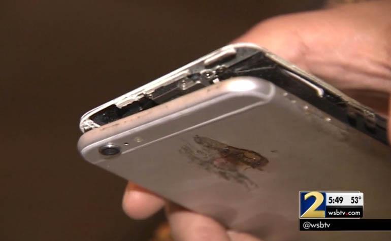 iPhone 6 Plus загорелся в кармане брюк