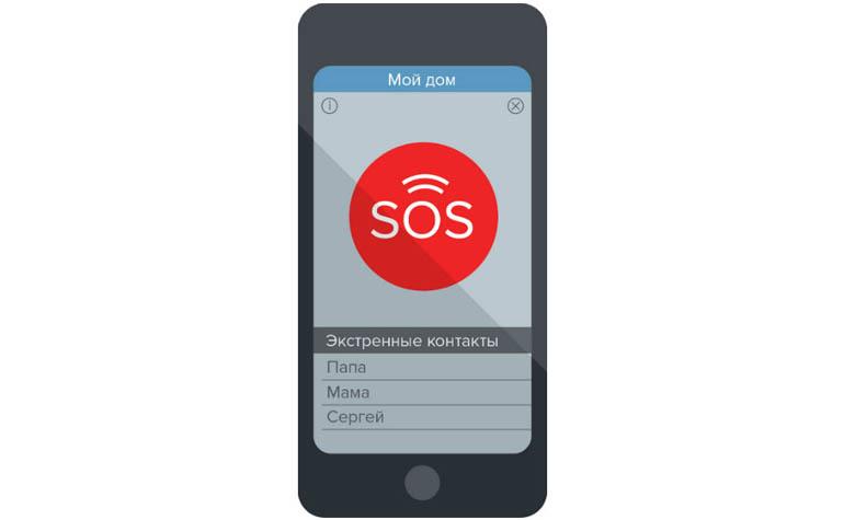 Мобильное приложение со встроенной кнопкой SOS