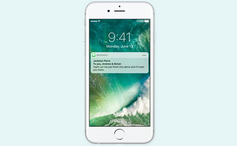 Новый экран блокировки iPhone