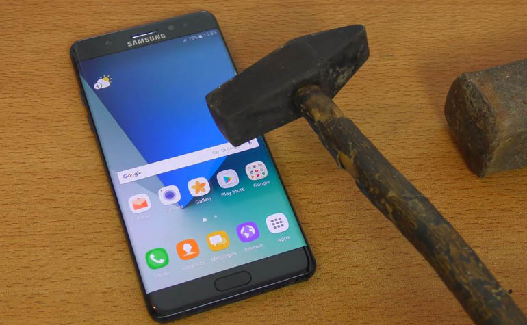 Жесткий тест Samsung Galaxy Note 7