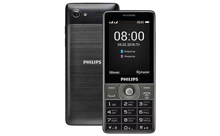 Philips Xenium E570 - новый кнопочный телефон