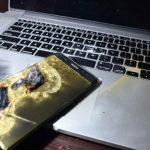 очередной взрыв смартфона Samsung Galaxy Note 7