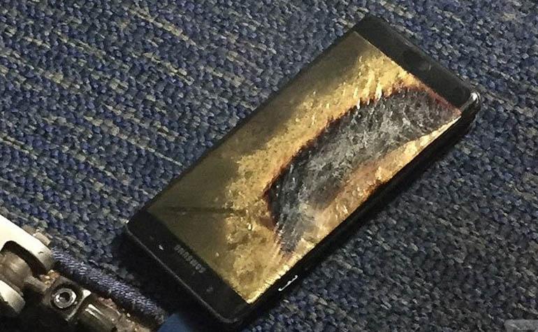 Samsung Galaxy Note 7 продолжают гореть