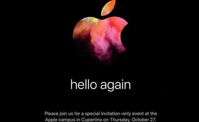 Презентация Apple 27 октября в Купертино