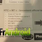 Восьмого марта во Франции в продажу поступит смартфон HTC M7