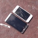 HTC One vs iPhone 5 crushtest