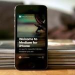 Новый сервис блогов Medium для iPhone