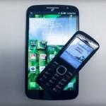 Комплект Pop Mega и Buddy – смартфон с телефоном от Alcatel